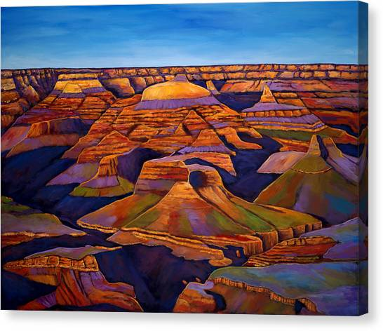 Grand Canyon Canvas Print - Shadows And Breezes by Johnathan Harris