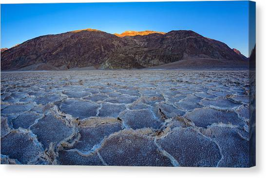 Shadows Fall Over Badwater Canvas Print