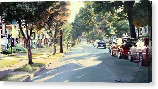 Canvas Print - Shadows In 44108 by David Buttram