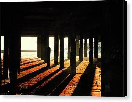 Santa Monica Pier Canvas Print - Shadows by Martin Newman