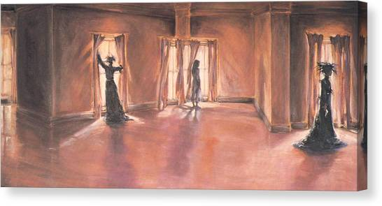 Shadows Of Mourning Canvas Print by Linda Crockett