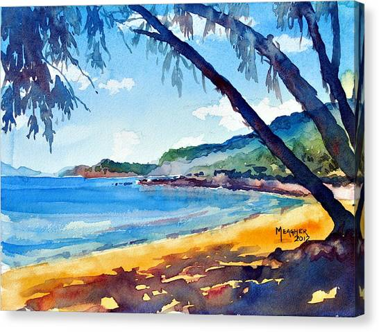 Costa Rican Canvas Print - Shadows On The Beach by Spencer Meagher