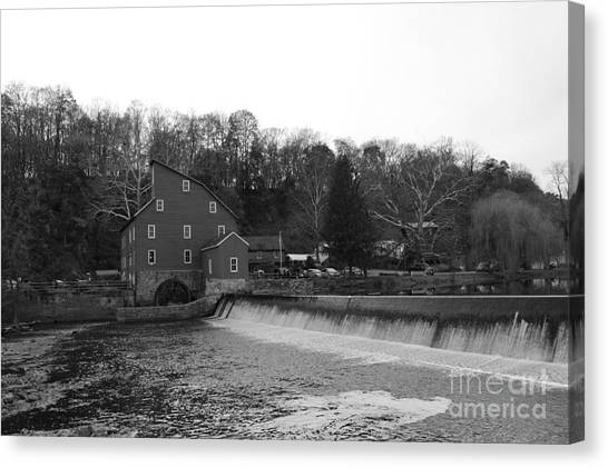 Shadows On The Mill In Clinton Canvas Print
