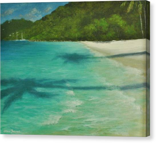 Shadows Over Magens Bay By Alan Zawacki Canvas Print