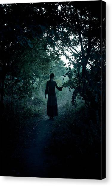 Witches Canvas Print - Shadowy Path by Cambion Art