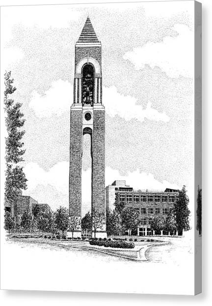 Ball State University Canvas Print - Shafer Tower, Ball State University, Muncie, Indiana by Stephanie Huber