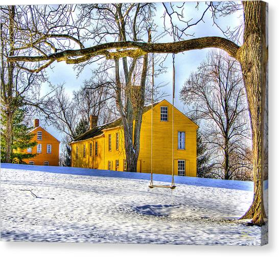 Shaker Swing In Winter 2 Canvas Print