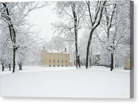 Shaker Winter Canvas Print