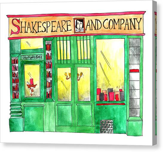 Shakespeare And Company Canvas Print