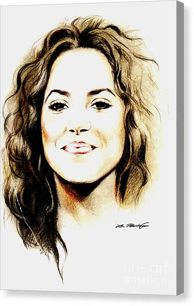 Shakira Canvas Print - Shakira by Lin Petershagen