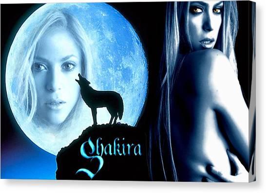 Shakira Canvas Print - Shakira by Maye Loeser