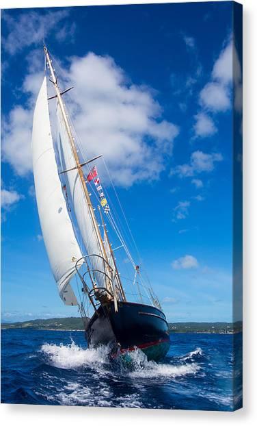 Shalamar Classic Sailboat #2 Canvas Print by Karl Alexander