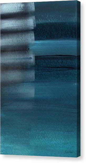 Soothing Canvas Print - Shallow- Abstract Art By Linda Woods by Linda Woods