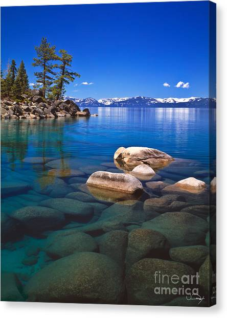 Lake Tahoe Canvas Print - Shallow Water by Vance Fox