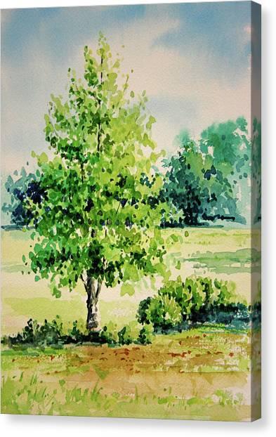 Shalom Park Watercolor Canvas Print
