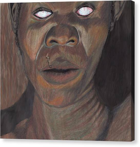 Shaman In A Trance Canvas Print by Jean Haynes
