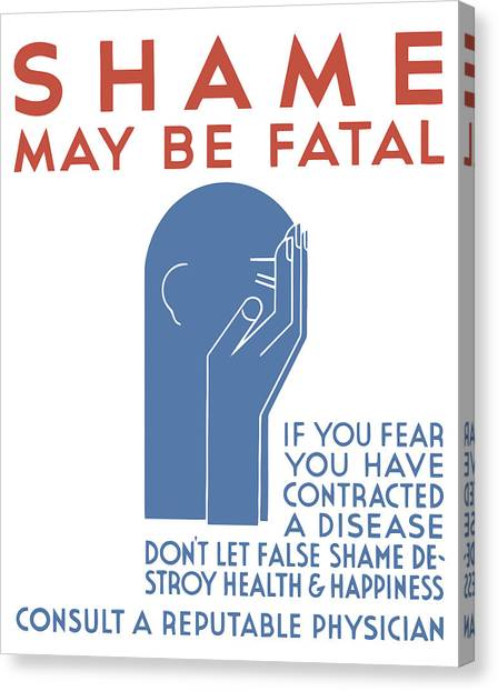 Health Care Canvas Print - Shame May Be Fatal - Wpa by War Is Hell Store