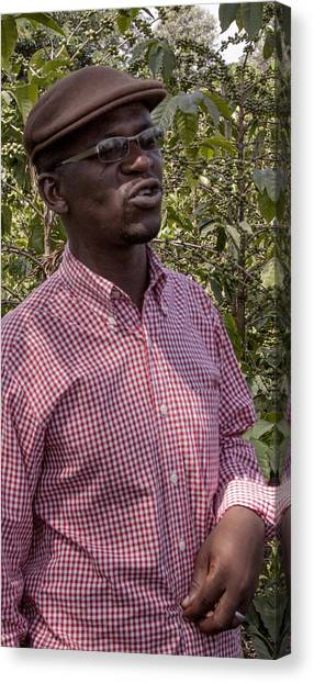 Coffee Plant Canvas Print - Shanga Manager - Tanzania by Michael Havice