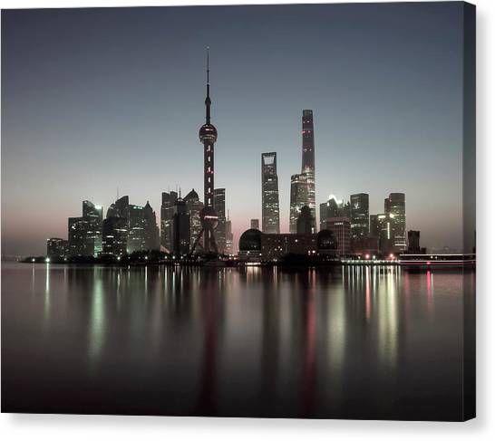 Shanghai Skyline Canvas Print - Shanghai by Daniel Hagerman