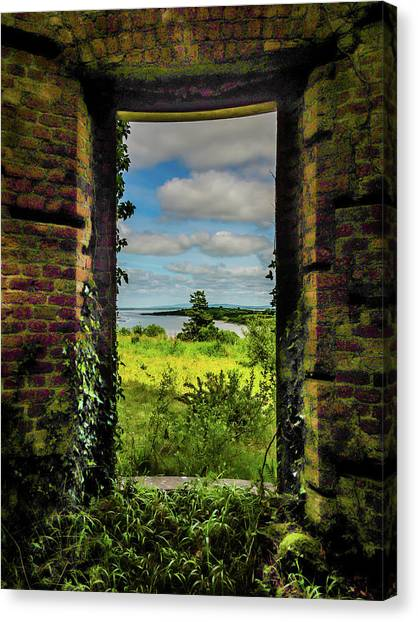 Canvas Print featuring the photograph Shannon Estuary From Abandoned Paradise House by James Truett