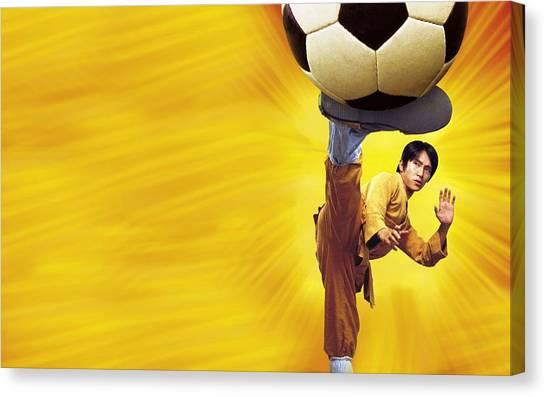 Football Teams Canvas Print - Shaolin Soccer by Maye Loeser