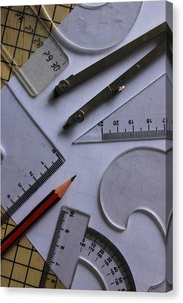 Protractors Canvas Print - Shapes And Angles by Robert Hamm