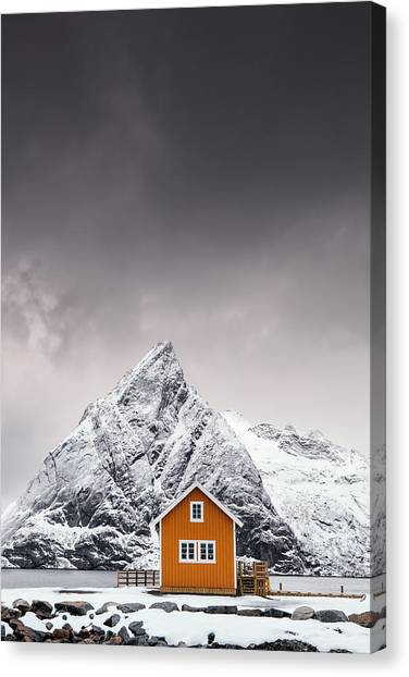 House Canvas Print - Shapes Of Lofoten by Mikkel Beiter