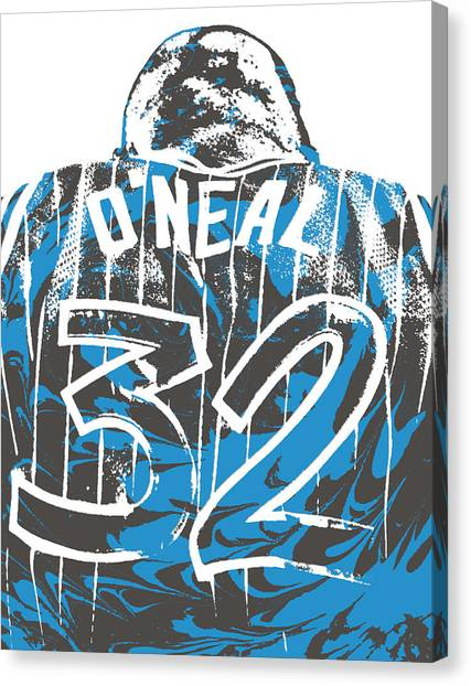 Shaquille Oneal Canvas Print - Shaquille Oneal Orlando Magic Pixel Art 5 by Joe Hamilton