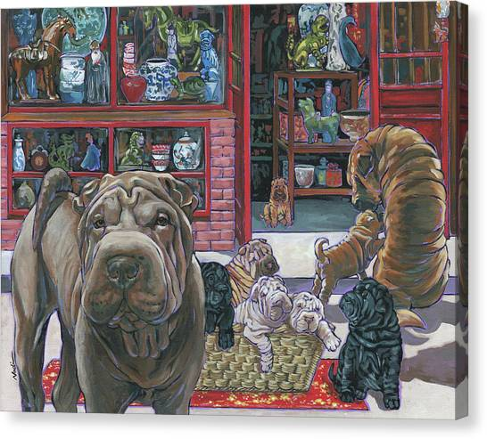 Canvas Print - Shar Pei by Nadi Spencer