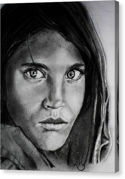 Sharbat Gula Canvas Print by Andrea Realpe