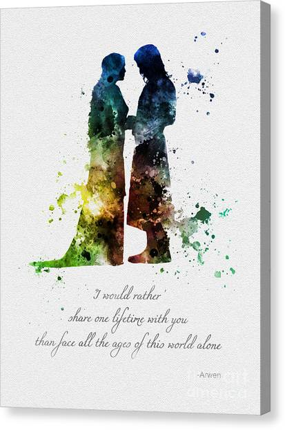 Tolkien Canvas Print - Share One Lifetime by Rebecca Jenkins