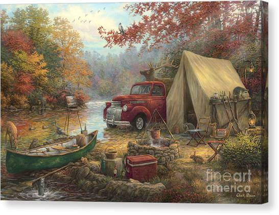 Camouflage Canvas Print - Share The Outdoors by Chuck Pinson