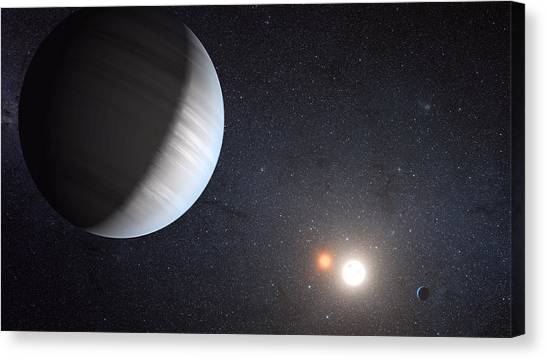 Moon Canvas Print - Sharing Two Suns by Movie Poster Prints
