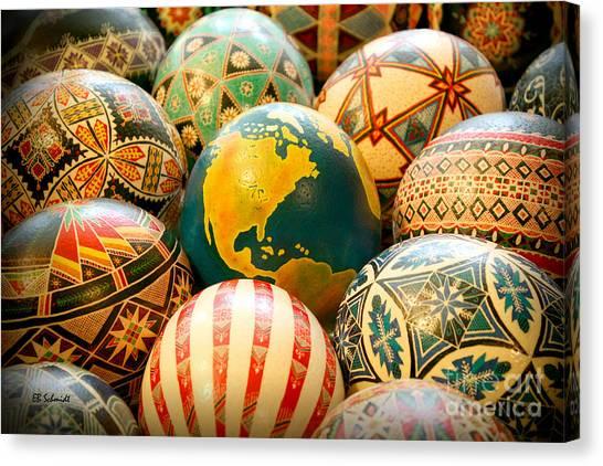 Shari's Ostrich Eggs Canvas Print