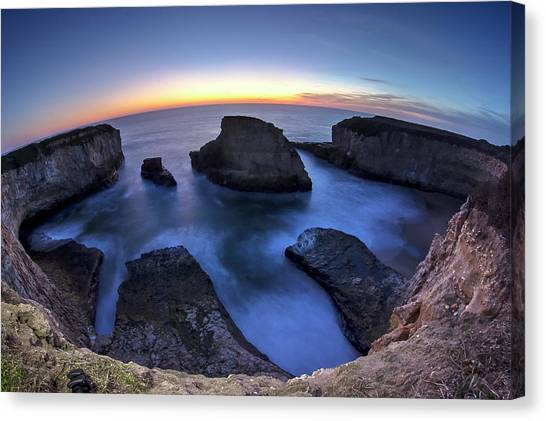 Shark Fin Cove Canvas Print