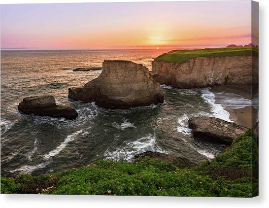 Shark Fin Cove Sunset Canvas Print