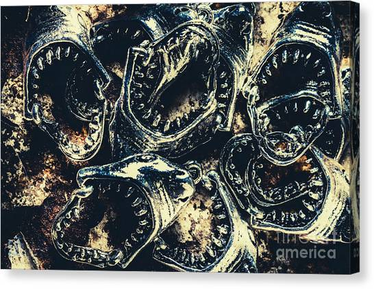 Jaws Canvas Print - Shark Jaws by Jorgo Photography - Wall Art Gallery