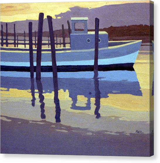 Lobster Canvas Print - Shark River Lobster Boat by Donald Maier