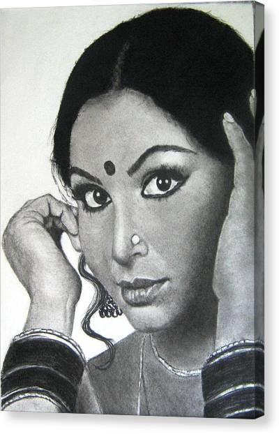 Sharmila Tagore Canvas Print