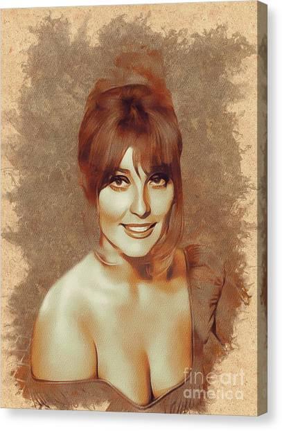 Stardom Canvas Print - Sharon Tate, Actress by Mary Bassett