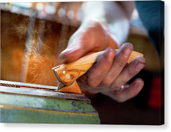 Sharpening The Blade Canvas Print