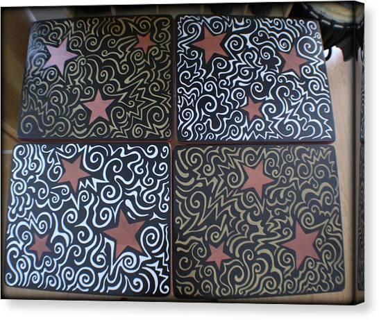 Sharpie Star Tv Table Set Canvas Print