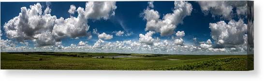 Sharps Creek Road Panorama Canvas Print