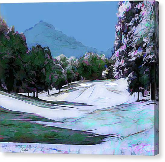 Hole In One Canvas Print - Sharptop Mountain And Bent Tree Golf Course by Jennifer Stackpole