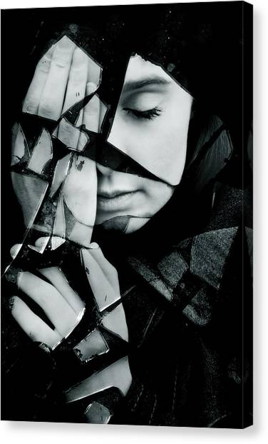 Gothic Art Canvas Print - Shattered by Cambion Art