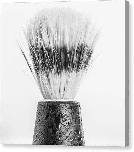Canvas Print featuring the photograph Shaving Brush by Gary Gillette