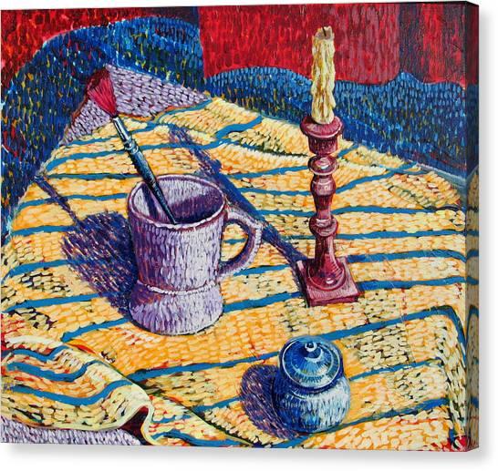 Shaving Mug Canvas Print by Rollin Kocsis