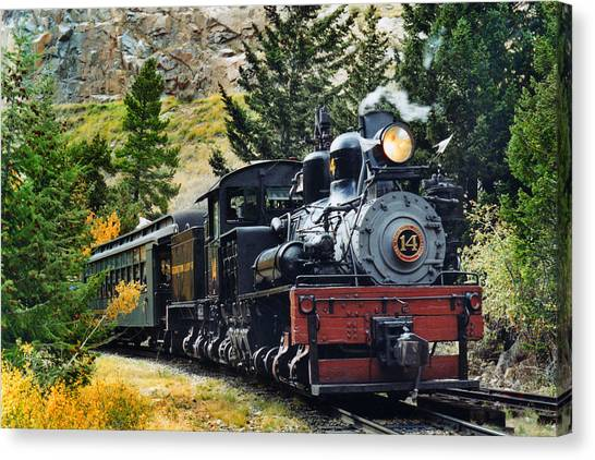 Steam Trains Canvas Print - Shay On The Georgetown Loop by Ken Smith