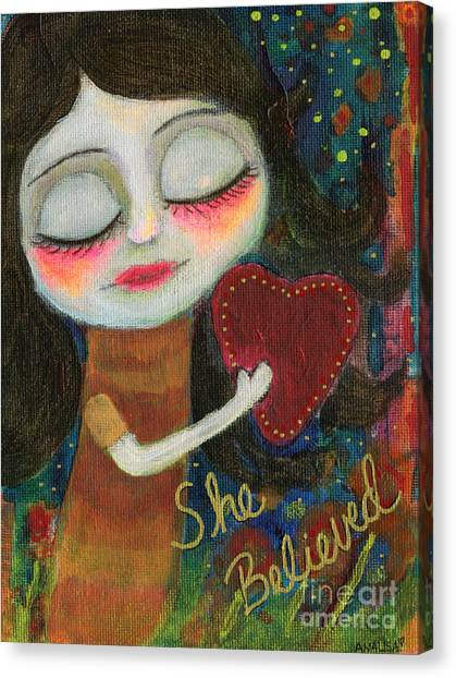 She Believed Canvas Print