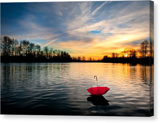 She Floats Away Canvas Print